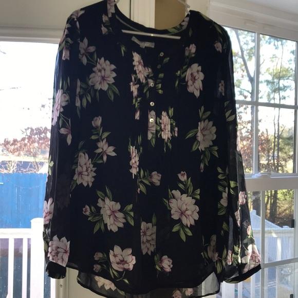 NWT fabulous Daniel Rainn Floral blouse XL